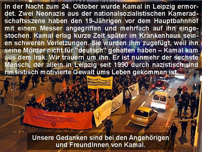 Kamal von Neonazis in Leipzig ermordet